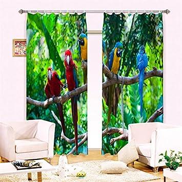 Sproud Moderne 3D Vogel Gedruckt Wohnzimmer Einrichtung Vorhänge Zimmer  Verdunkelnden Vorhänge Taube Schwan Papagei Flamingo