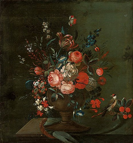 Johann Amandus Winck Roses, chrysanthemums, convolvulus, a parrot tulip and other flowers in an urn Private collection 30