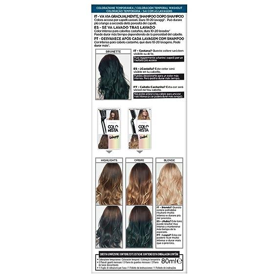 LOreal Paris Colorista Coloración Temporal Tono Washout Denim Hair - 116 gr
