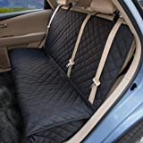 ZQ Dog Car Seat Covers - Nonslip Rear Seat Cover for Kids Waterproof Pet Bench Seat Cover with Middle Seat Belt Capable…
