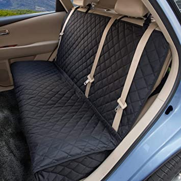 Excellent Zq Dog Car Seat Covers Nonslip Rear Seat Cover For Kids Waterproof Pet Bench Seat Cover With Middle Seat Belt Capable For Cars Trucks And Suvs Pdpeps Interior Chair Design Pdpepsorg