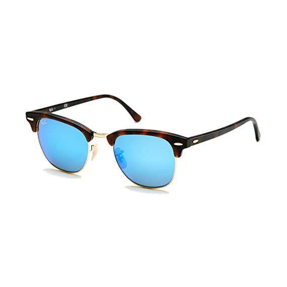 Ray-Ban Azul Espejo Clubmaster RB 3016 - 114517 49 mm + SD ...