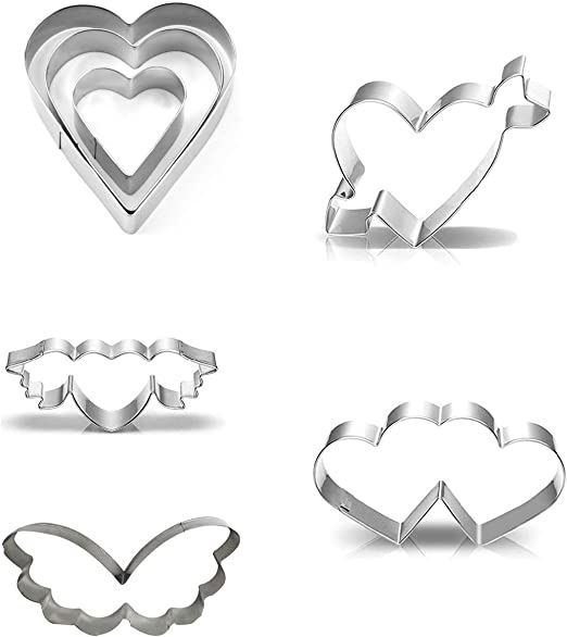 3/' Crowns Biscuit Fondant Pastry Baking Stainless Steel Cookie Cutters Set