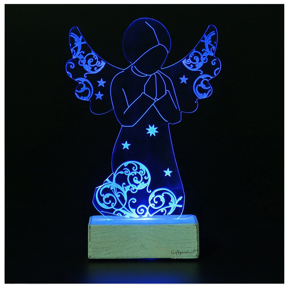 Giftgarden LED Light Nativity Scene Set Holy Family Statue Ornament Sainthood
