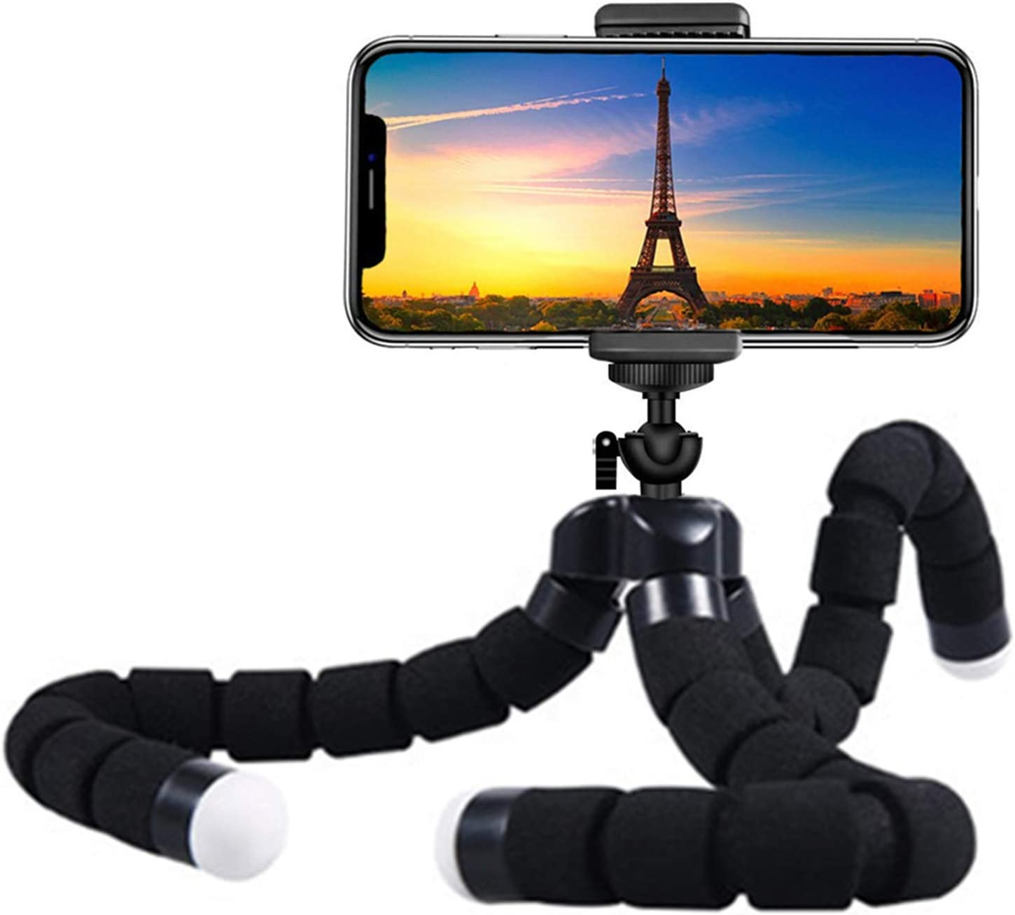 Premium Phone Tripod, Flexible Tripod Compatible with Phone/Android Samsung Mini Tripod Stand Holder for Camera Mobile Cell Phone 10'' : Camera & Photo