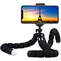 Premium Phone Tripod, Flexible Tripod Compatible with Phone/Android Samsung Mini Tripod Stand Holder for Camera Mobile…