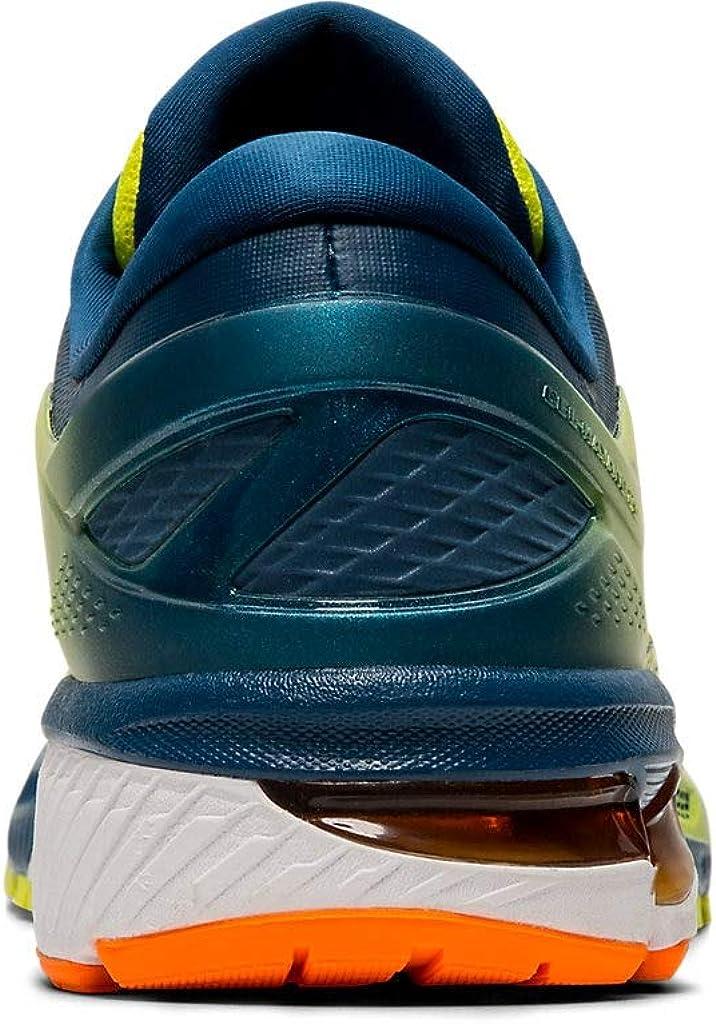 Endurecer Filadelfia Plisado  Amazon.com | ASICS Men's Gel-Kayano 26 Kai Running Shoes, 7.5M, Sour Yuzu/MAKO  Blue | Road Running