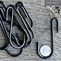 3.5 Inches S Shape Hanging Hooks for Kitchenware Pots Utensils Plants Towels Gardening Tools Clothes 10 Pack