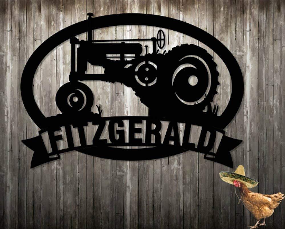 1927 Tractor Bauernhof Family Name Custom Zeichen Personalized Zeichen Steel seits gemacht Metal Zeichen Metal Wand Kunst (23.5 W X 18.5 H) Father'S Tag Gift gemacht bei Usa