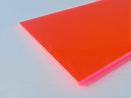 Plaque Acrylique Fluorescent Vert 1000 x 500 x 5 mm