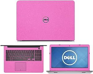 "Sparkling Pink Fiber Skin Decal wrap Skin Case for Dell Inspiron 15 5555 5558 5559 15.6"" Laptop"