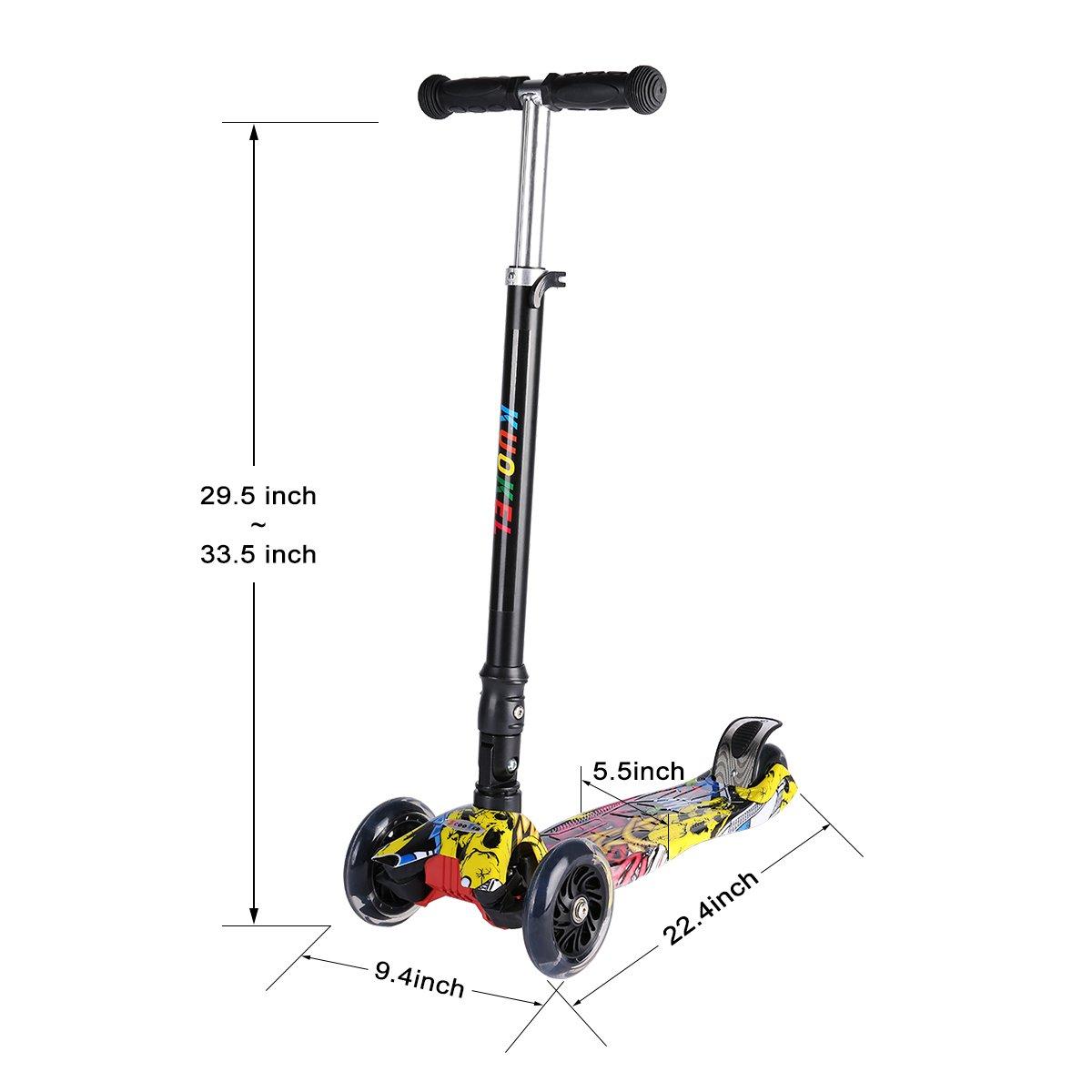 Amazon.com: Kick Scooters para niños, KUOKEL patinete ...