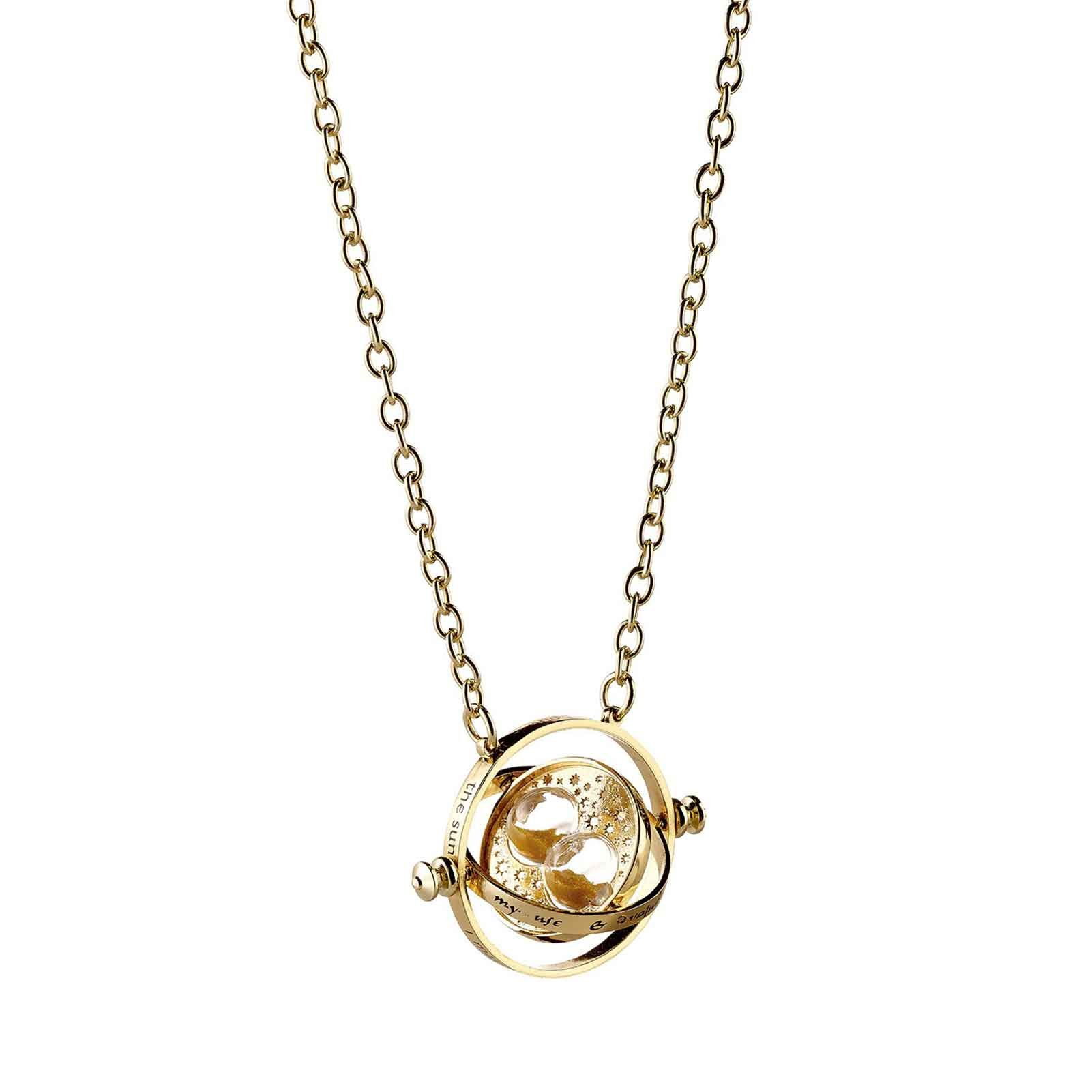 Harry Potter Necklace Spinning Hermione Time Turner Official Gold Plated