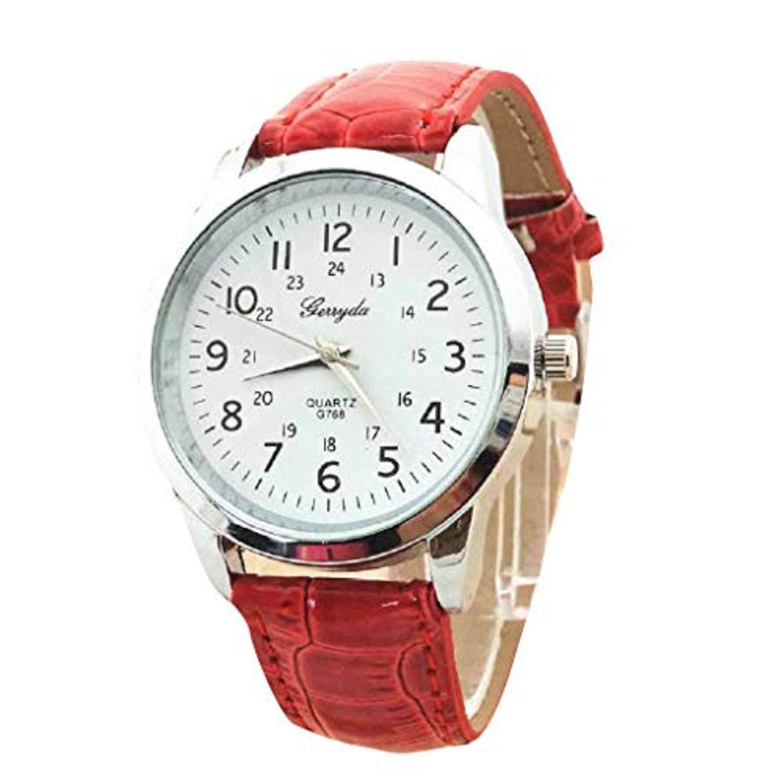 Elegant Analog Luxury Sports Leather Strap Quartz Mens Wrist Watch Rd