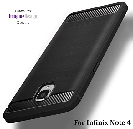 new style 0a401 e56d7 WOW Imagine Shock Proof Carbon Fibre Brushed Texture Armour Series Air  Cushion Anti Shock Technology Impact Resistant Slim TPU Back Cover for  Infinix ...