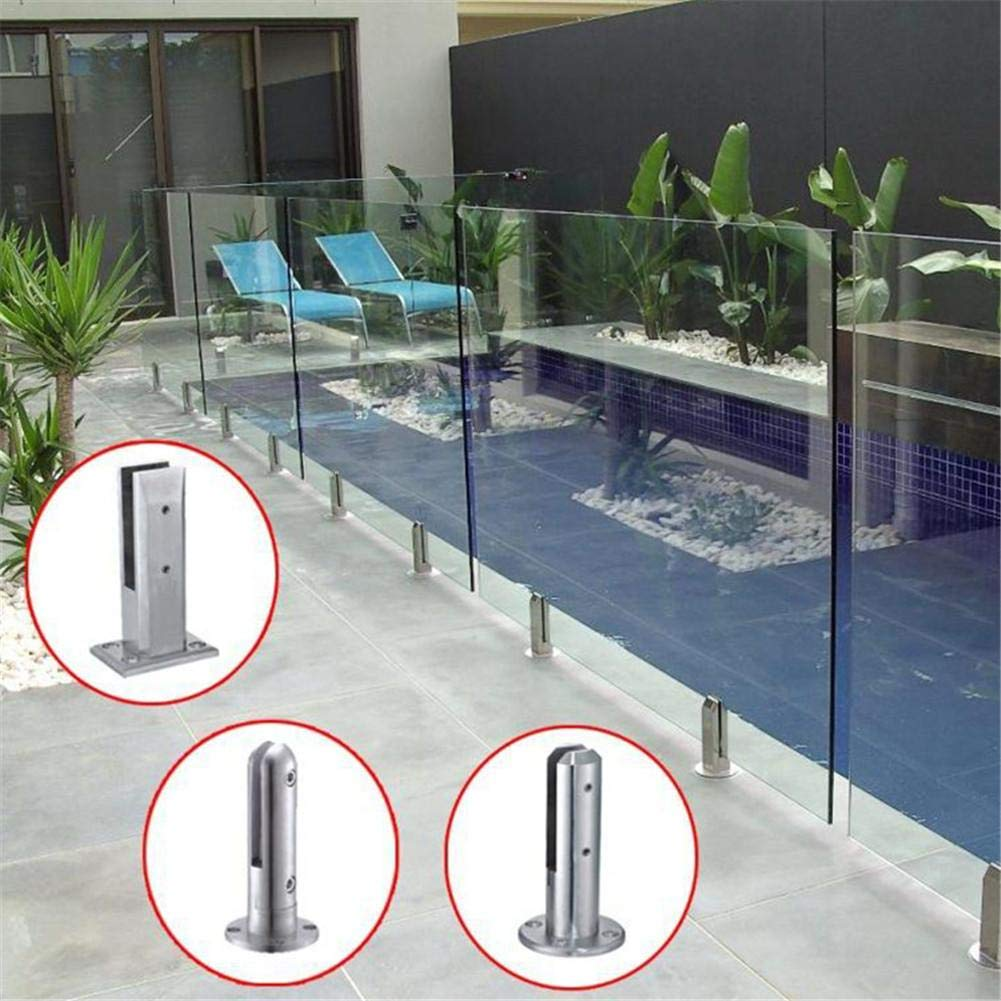raccordi fissi in acciaio inox Balaustra Staffa per vetrate Staffa per montaggio a clip Scale Morsetto per piscina Staffa per vetro regolabile Supporto per recinzione per pi Morsetto per vetro Euopat