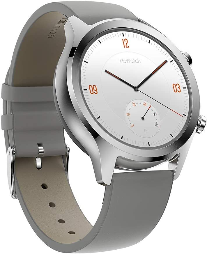 Smartwatches Reloj Inteligente y clásico Mobvoi TicWatch C2 con Sistema operativo Wear OS de Google, IP68 Resistente al Agua y Sudor, Google Pay, Compatible con iPhone y Android