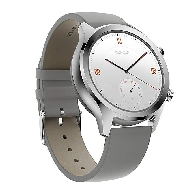 Ticwatch Smartwatches Reloj Inteligente y clásico Mobvoi C2 con Sistema operativo Wear OS de Google, IP68 Resistente al Agua y Sudor, Google Pay, ...