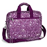 J World EXECUTIVE 15.4'' Laptop Briefcase in Love Purple