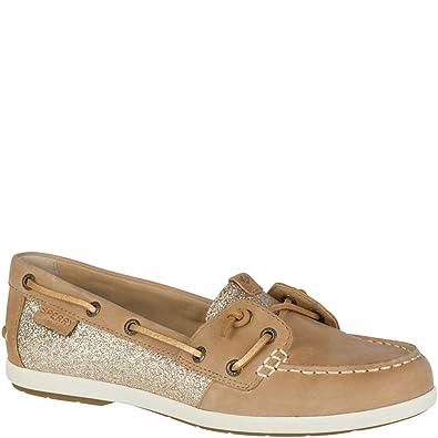 65914f4f405d Amazon.com | Sperry Top-Sider Coil Ivy Sparkle Boat Shoe Women 12 Linen |  Shoes