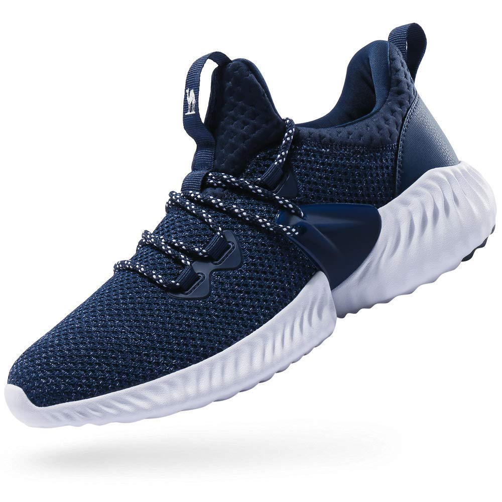 CAMEL CROWN Trail Running Shoes Non Slip Lightweight Casual Fashion Sneakers Sports Athletic Gym Walking Shoes for Men and Women Blue 10.5D(M)