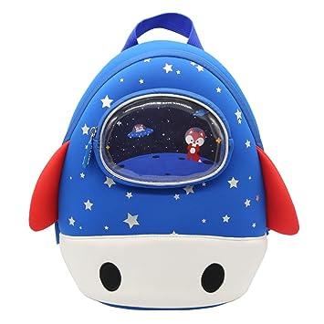 8fba115f6fbf Alnaue Unique 3D Rocket Preschool Kids Nursery Backpack Waterproof Kindergarten  Children School Bookbag For Toddler Boys