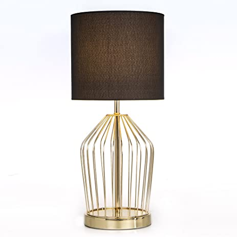 Cheap Table Lamps For Living Room. SOTTAE Golden Hollowed Out Base Livingroom Bedroom Bedside Table Lamp  Desk With Black Fabric