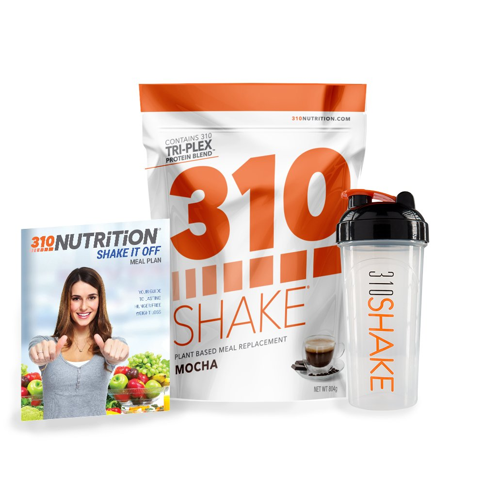 Mocha Meal Replacement | 310 Shake Protein Powder is Gluten and Dairy free, Soy Protein and Sugar Free | Includes 310 Shaker and Free Recipe eBook (DIGITAL) | 28 Servings