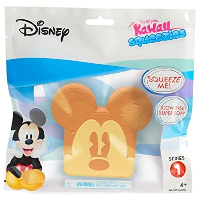 Kawaii Just Play Squeezies Mickey Toast, Multicolor: Toys & Games