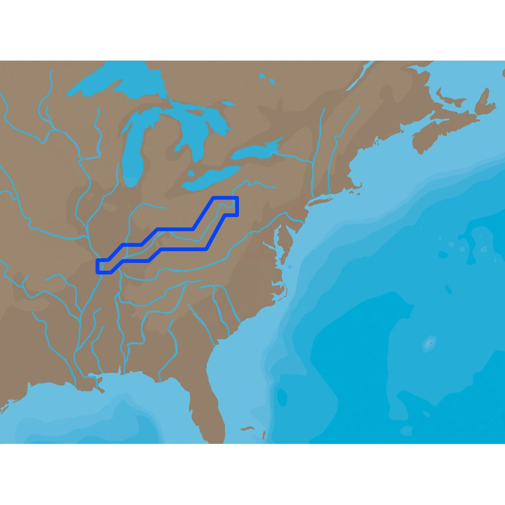 C-MAP NT + NA-C039 - オハイオ川カイロピッツバーグ - 古野FP-カード B013XRETPI