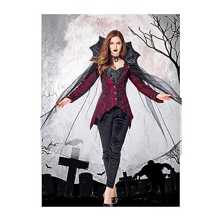 RKRCXH Casa,Vampire Temptress Disfraz for Mujer Capa ...