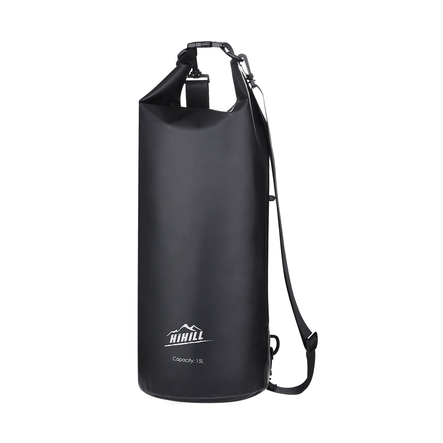HiHiLL Waterproof Dry Bag, PVC Gear Dry with Earphone Interface, Detachable Shoulder Straps for Kayaking, Beach, Boating, Hiking, Fishing Outdoors with Waterproof Phone Case