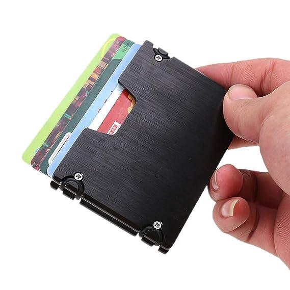 3ef3c9a0dd08 Amazon.com: Lannmart Women Men Business Credit Card Protector Wallet ...