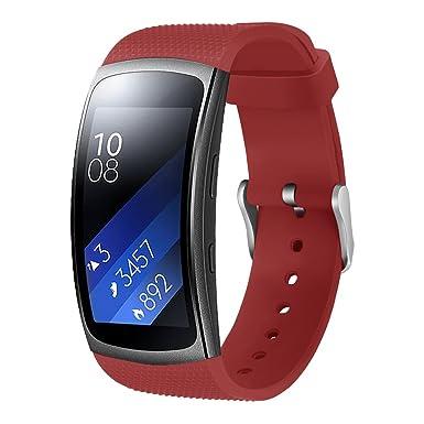 GOSETH SM R360 - Pulsera de repuesto para reloj inteligente Samsung Gear Fit II, silicona