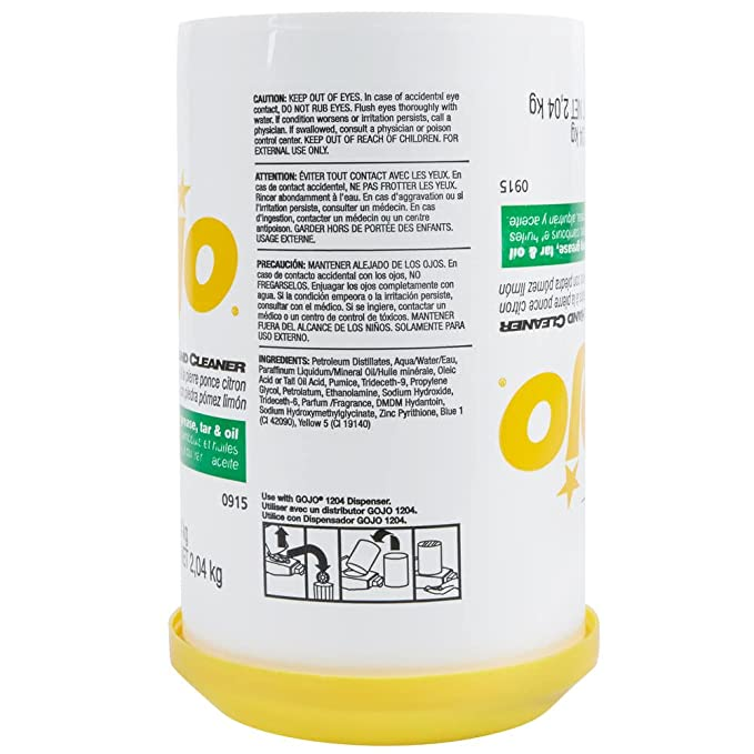 Amazon.com: Gojo Lemon Pumice Hand Cleaner 0915-06, 4.5 Lb - 6 Count: Automotive
