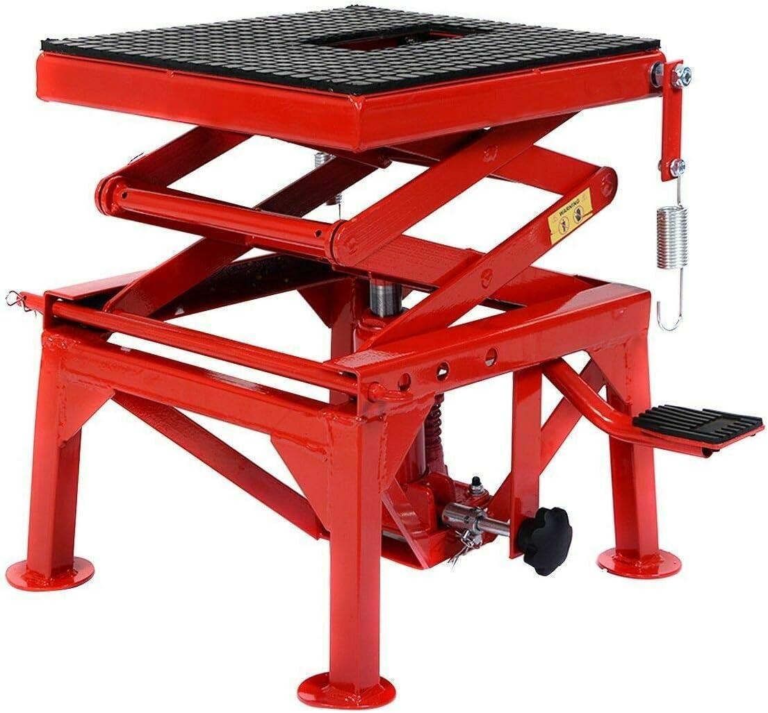 Scissor /& Boom Lifts,300lb Motorcycle Hydraulic Scissor Floor Jack Lift Hoist Center Stand Lift