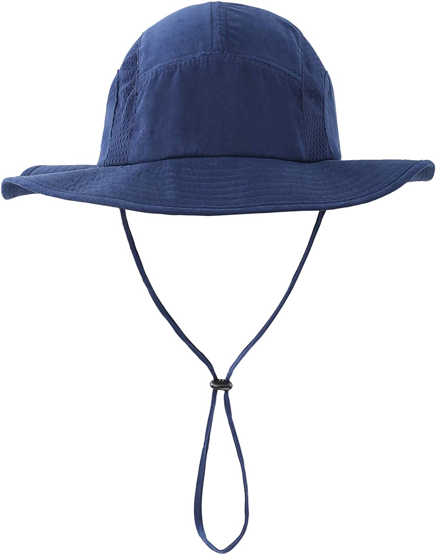 Home Prefer Men's Sun Hat UPF 50+ Wide Brim Bucket Hat Windproof Fishing Hats