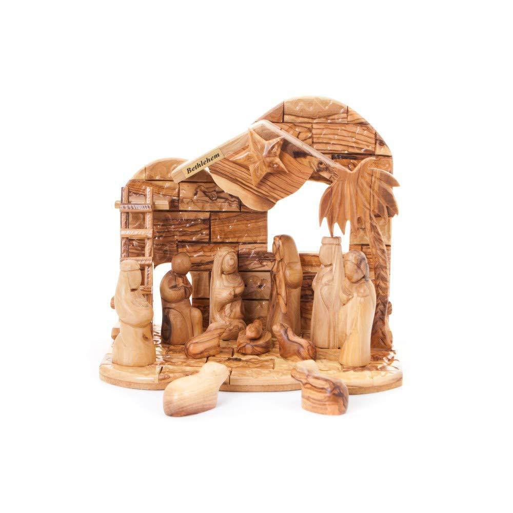 Bethlehem Handicrafts Abstract Wooden Nativity Set