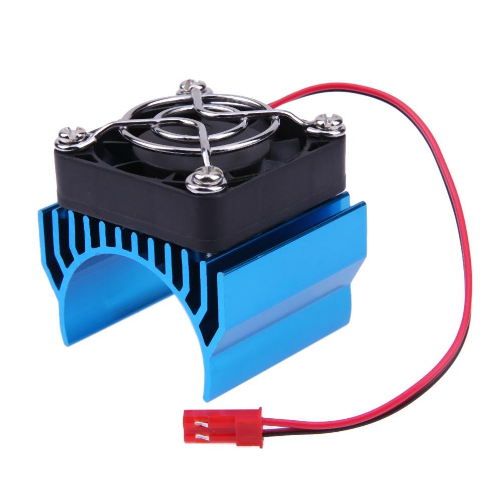 RC Parts Electric Car Motor Heat Sink Cover + Cooling Fan for 1:10 RC Car Childplaymate