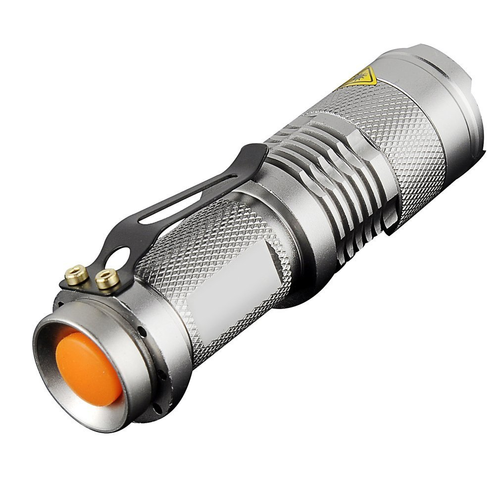 Pack of 5,Pocketman 7W 300LM SK-68 3 Modes Mini Q5 LED Flashlight Torch Tactical Lamp Adjustable Focus Zoomable Light by POCKETMAN (Image #7)