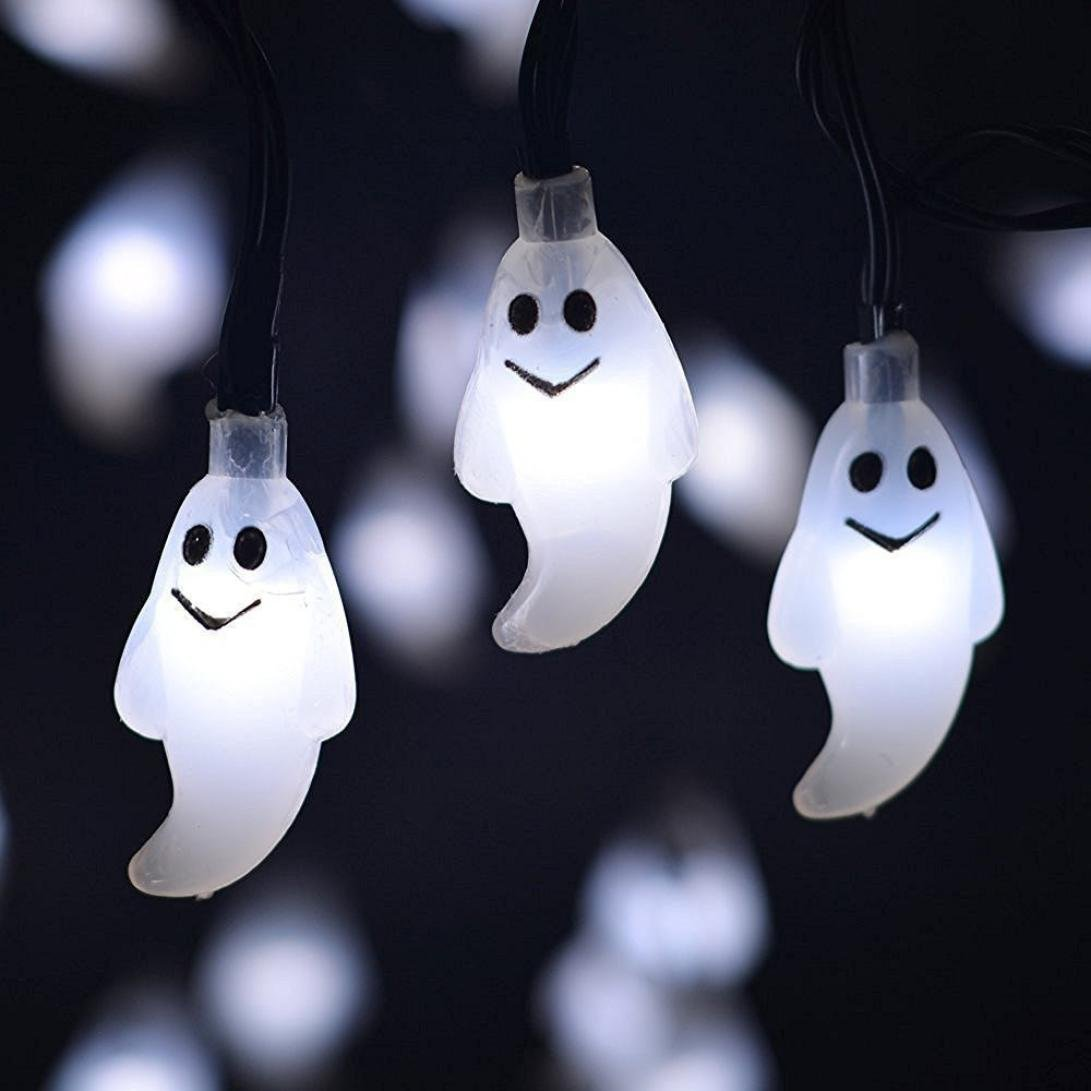 certainPL Ghost String Lights, 3.9ft with 10 String Fairy Lamp for Patio, Lawn, Garden, Wedding, Halloween Party Decor (White)