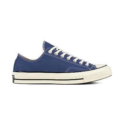 8b8dd0c858 Converse Chuck Taylor All Star 70 Ox Canvas Low Schuhe Retro Sneaker mit  7kmh Aufkleber Blau