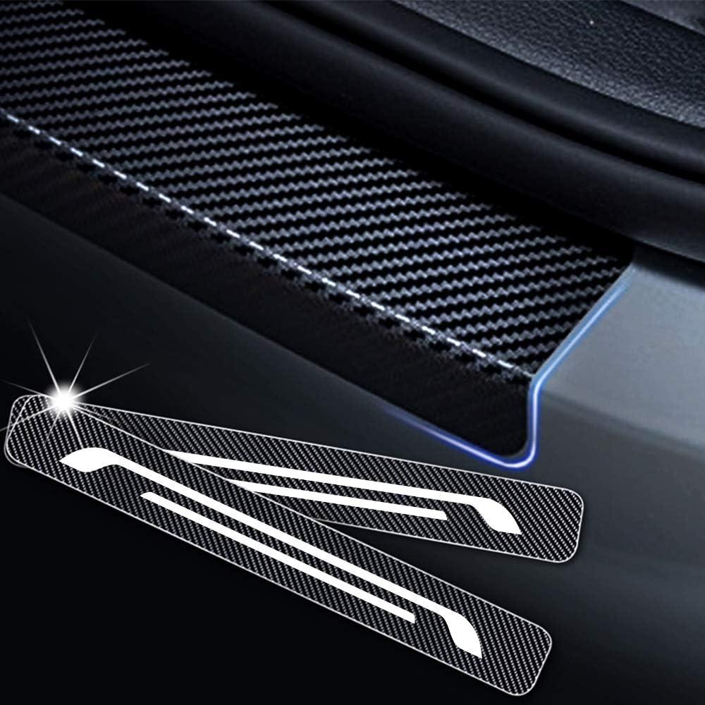 Einstiegsleiste Schutz Aufkleber Reflektierende Lackschutzfolie Für Celerio Swift Baleno Jimny Vitara S Cross Einstiegsleisten Weiß 4 Stück Auto