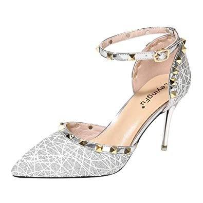 Sandales Chaussures Stiletto Pointu Strappy Huatime Talons Femmes qF647nHfw
