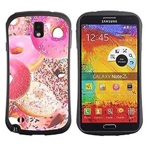 Suave TPU GEL Carcasa Funda Silicona Blando Estuche Caso de protección (para) Samsung Note 3 / CECELL Phone case / / doughnut sprinkles sweet homer pink /