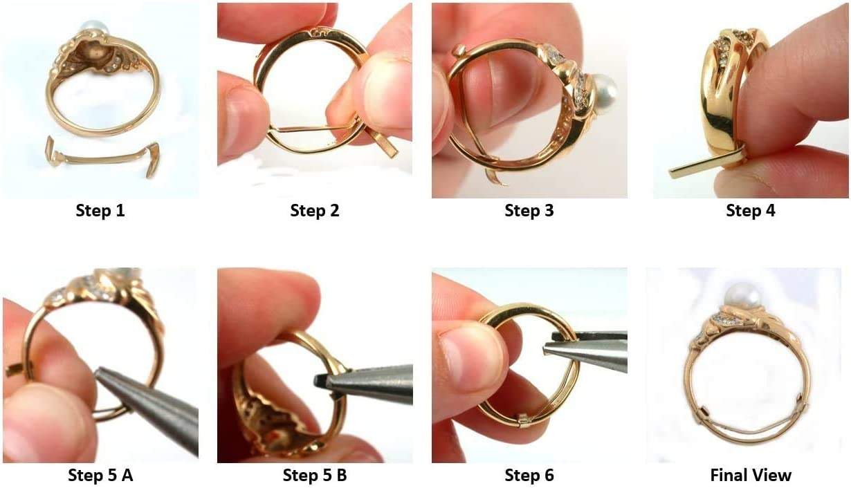 Jumbo Ring Guard Sizer Made in Yellow Gold Filled 36X5 MM Jumbo