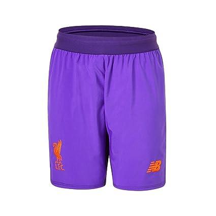 b3ccfb1ffd7 Amazon.com   New Balance 2018-2019 Liverpool Away Shorts (Purple ...