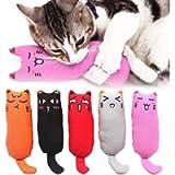Legendog 5Pcs Catnip Toy, Cat Chew Toy Bite Resistant Catnip Toys for Cats,Catnip Filled Cartoon Mice Cat Teething Chew…