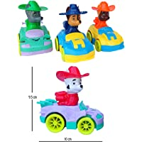 FunBlast Paw Patrol Rescue Vehicles - Push and Go Crawling Toy, Toy Car for Kids and Children. (Zuma, Marshall, Chase, & Rocky – 4 PCS)
