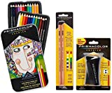 Prismacolor Premier Colored Pencil and Accessory Set, Set of 24 Prismacolor Premier Colored Pencils, One Prismacolor Premier Pencil Sharpener, and a 2-pack of Prismacolor Colorless Blender Pencils